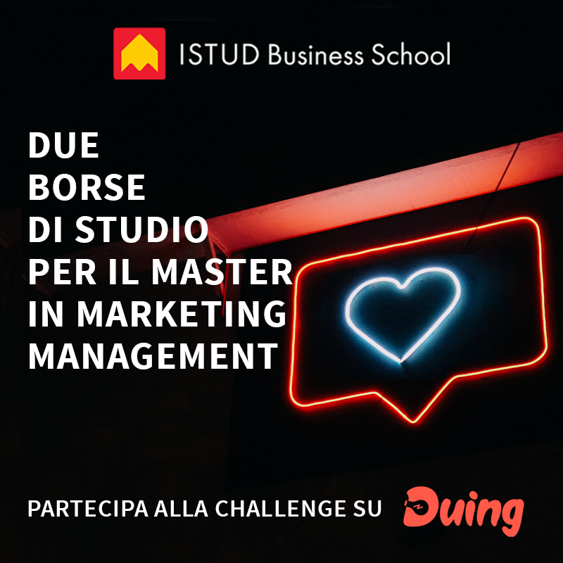 Borse di studio master in marketing istud con duing