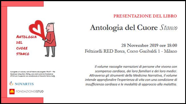 presentazione libro antologia del cuore stanco istud in feltrinelli