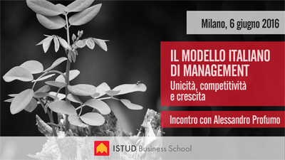 Evento modello italiano management